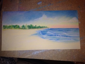 Beach inspiration, personal pastel sketch